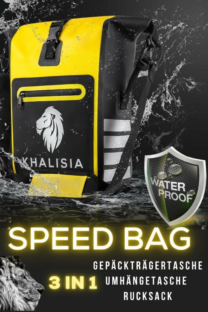 Ortlieb Fahrradtaschen sind gut, KHALISIA SpeedBag ist aus 100% TPU statt PVC, wasserdicht und reflektierend